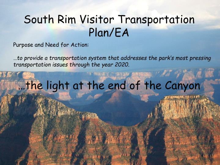 South Rim Visitor Transportation Plan/EA