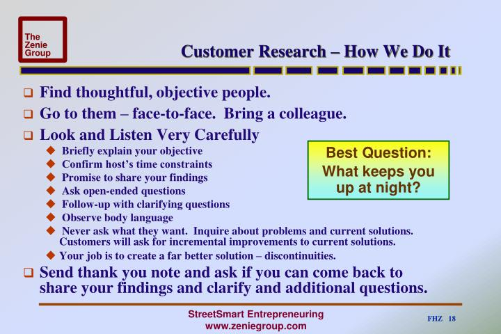 Customer Research – How We Do It