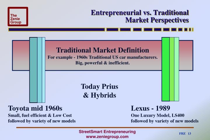 Entrepreneurial vs. Traditional