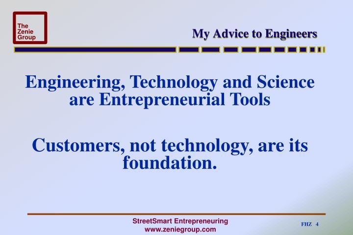 My Advice to Engineers