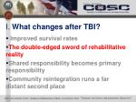 i what changes after tbi1