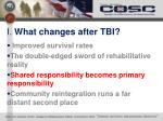i what changes after tbi2