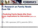 iv research on family needs post tbi