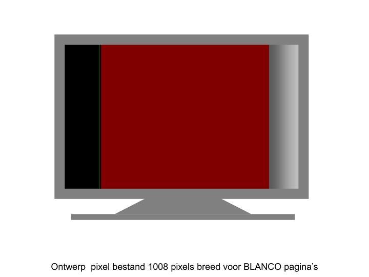 Ontwerp  pixel bestand 1008 pixels breed voor BLANCO pagina's