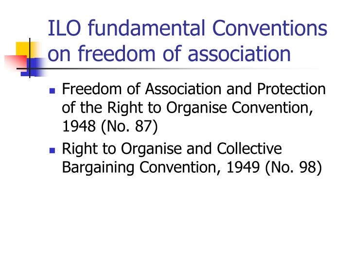 ILO fundamental Conventions on freedom of association