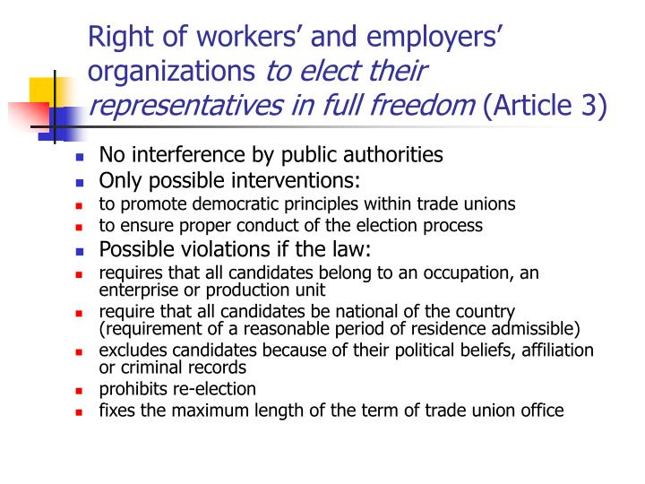 Right of workers' and employers' organizations