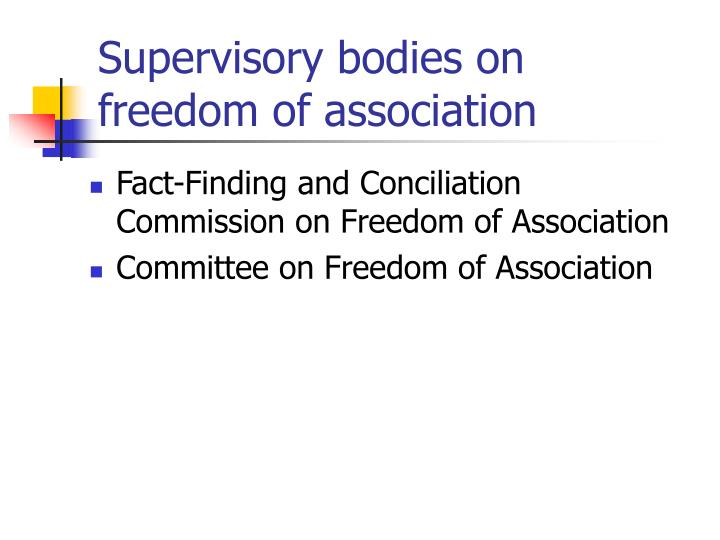 Supervisory bodies on freedom of association