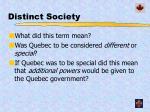 distinct society