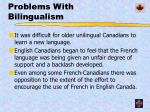 problems with bilingualism