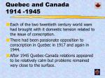 quebec and canada 1914 1945