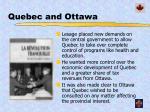 quebec and ottawa