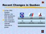 recent changes in quebec1