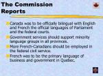 the commission reports