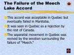 the failure of the meech lake accord