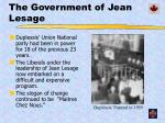 the government of jean lesage
