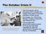 the october crisis ii