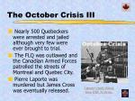 the october crisis iii