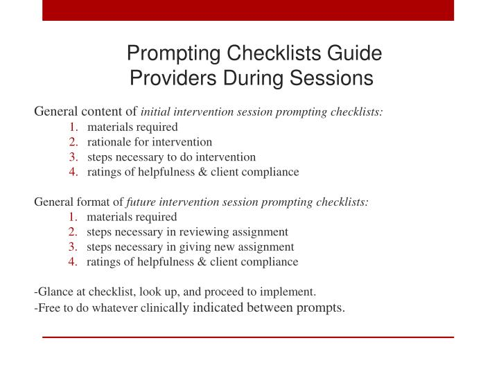 Prompting Checklists Guide
