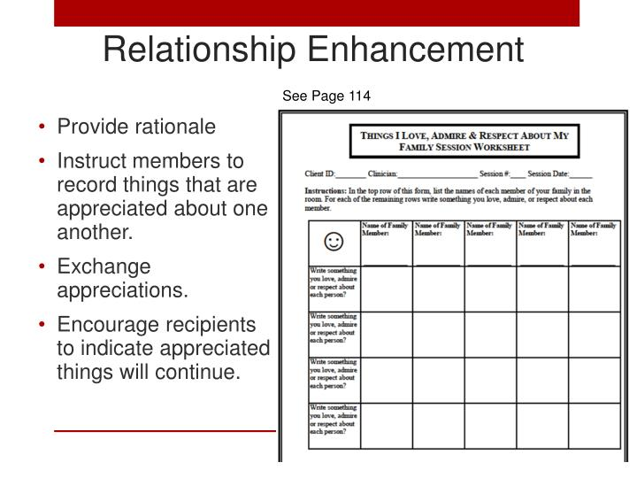 Relationship Enhancement