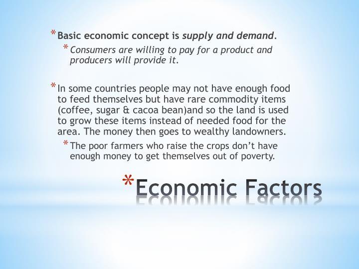 Basic economic concept is