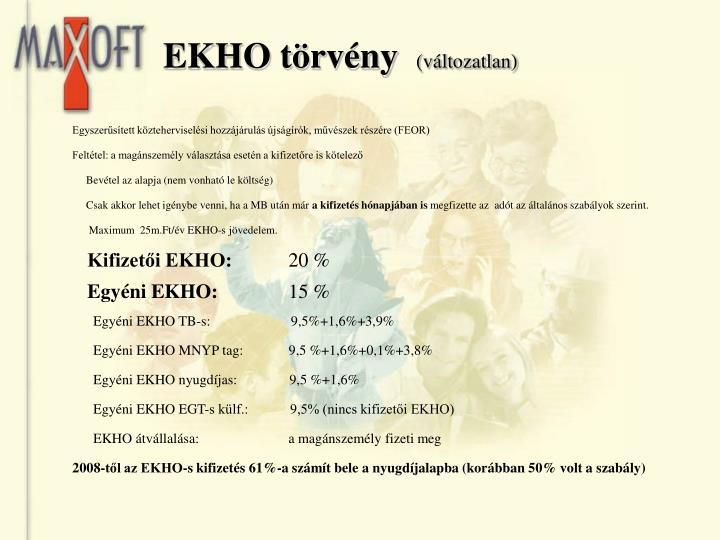 EKHO törvény