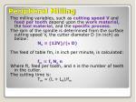 peripheral milling