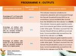programme 4 outputs6