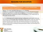 reasons for deviation1