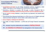 consolidated fdi policy salient features