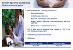 sector specific guidelines telecommunication