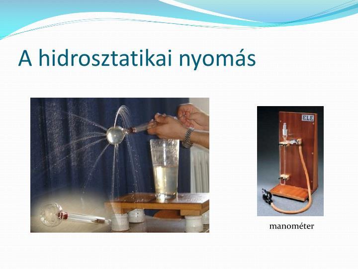 A hidrosztatikai nyomás