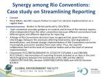 synergy among rio conventions case study on streamlining reporting1