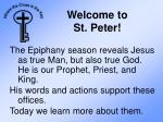 welcome to st peter