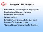 range of fhl projects