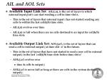 ail and aol sets
