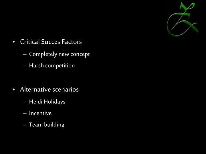 Critical Succes Factors