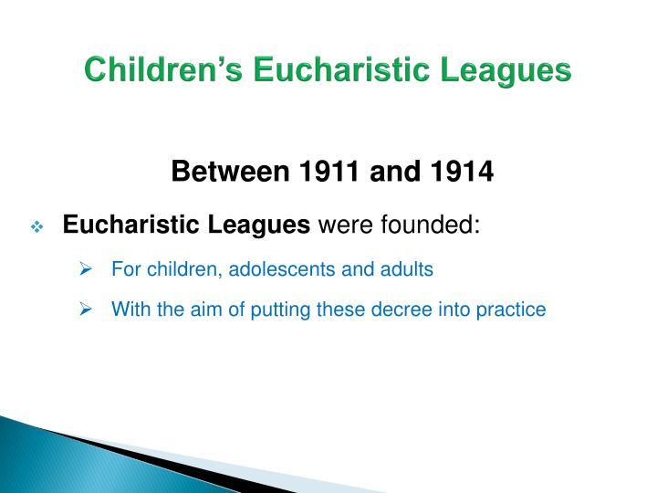 Children's Eucharistic Leagues