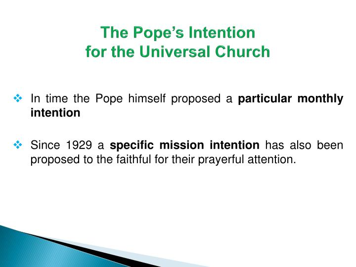 The Pope's Intention