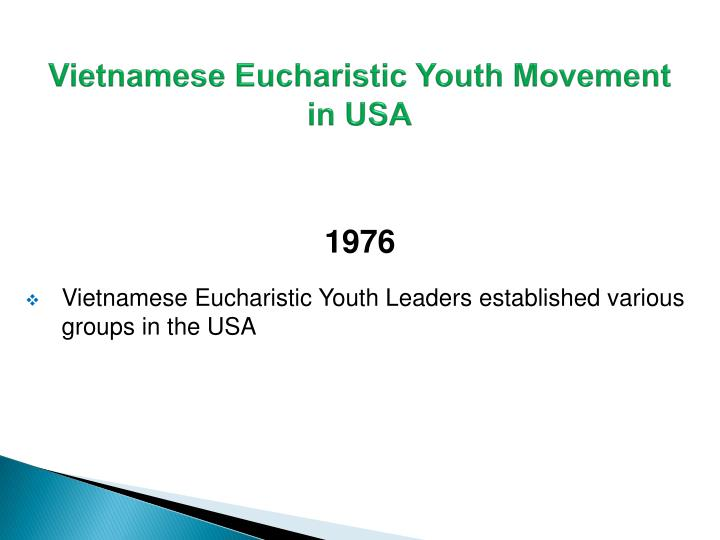 Vietnamese Eucharistic Youth Movement in USA