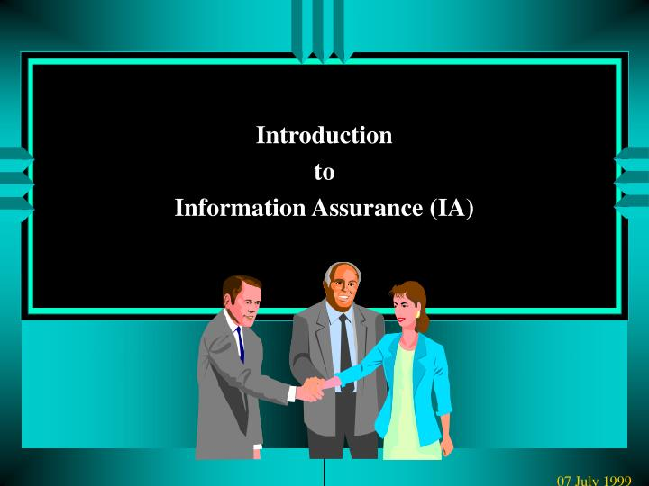 Introduction to information assurance ia