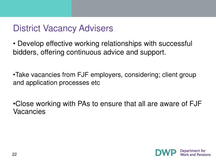 District Vacancy Advisers