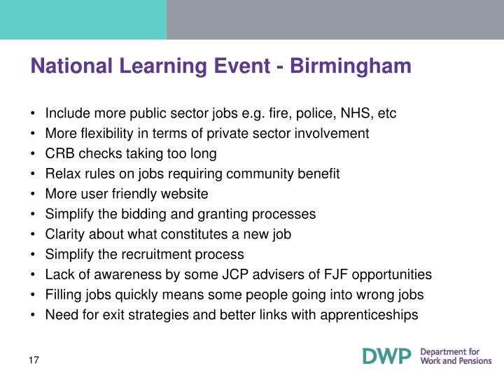 National Learning Event - Birmingham