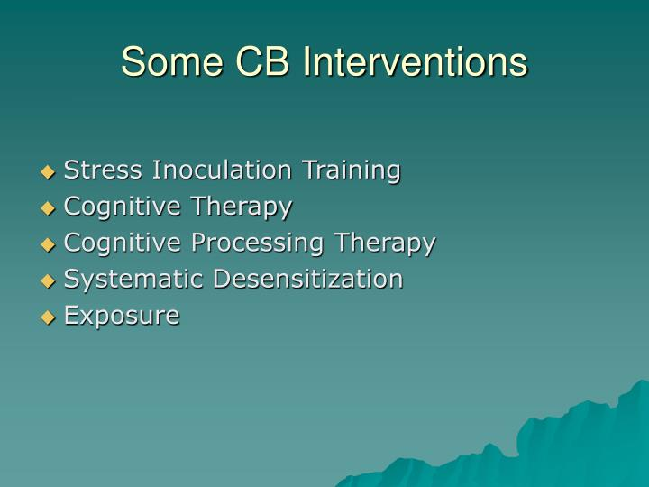 Some CB Interventions