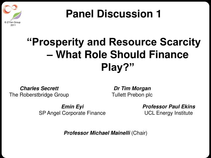 Panel Discussion 1
