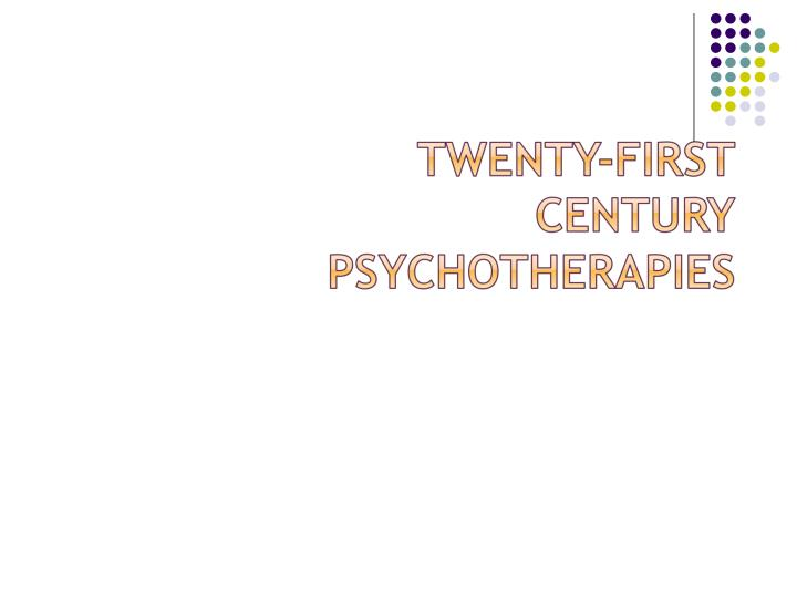 Chapter 2 – Behavior Therapy