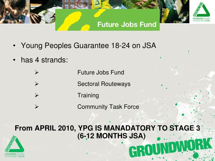 Young Peoples Guarantee 18-24 on JSA