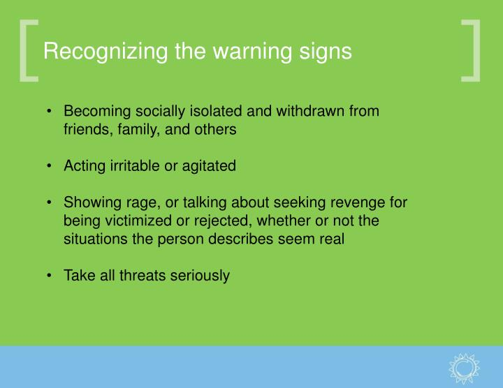 Recognizing the warning signs