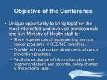 objective of the conference