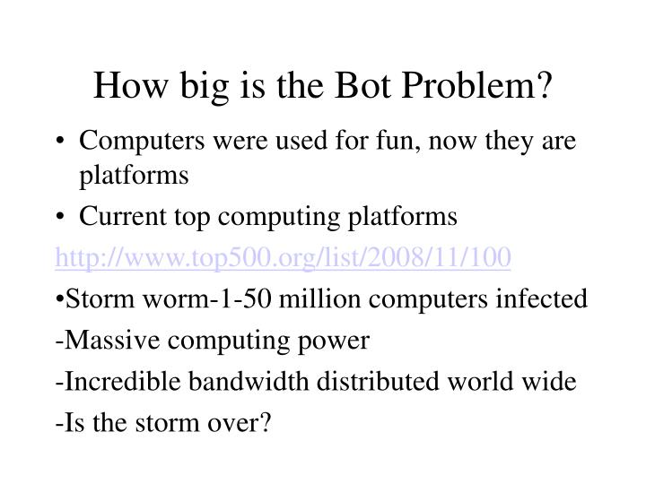 How big is the Bot Problem?