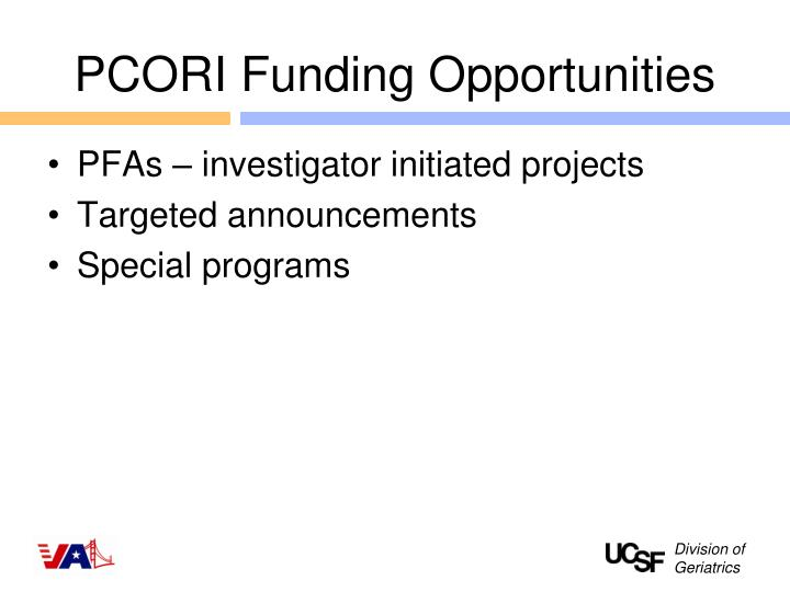 PCORI Funding Opportunities
